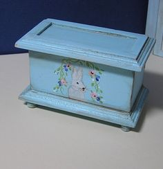 Miniature Dollhouse Furniture- Rabbit Trunk signed by Artist 1 in scale