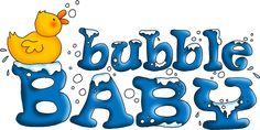 bubble baby word art