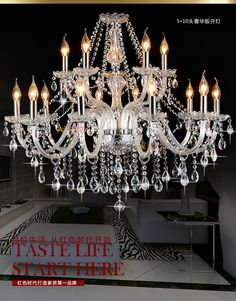 Modern luxury chandelier 15 lights Luz  crystal chandelier interior light lampe big chandelier living room bedRoom light #Affiliate