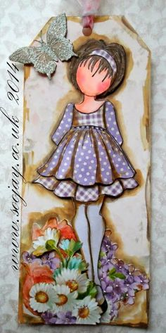 Julie Nutting Prima Dolls Stamps Collection Paper ink and Glue: Prima Doll - Spring Tags Prima Paper Dolls, Prima Doll Stamps, Doll Crafts, Paper Crafts, Tag Craft, Julie Nutting, Scrapbooking, Paper Tags, Card Tags