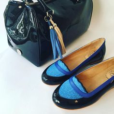 Mocasín Rita - Unique leather flat shoes - Patent moccasin - Handmade by Quiero June - Free shipping