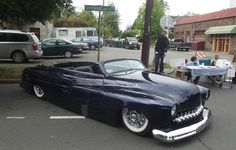 mercury FatBoy convertible w flame paint