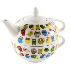 Owl Tea For One Set