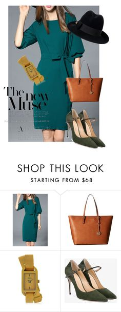 """dresd"" by masayuki4499 ❤ liked on Polyvore featuring MICHAEL Michael Kors, Versus, Jennifer Chamandi and Gucci"