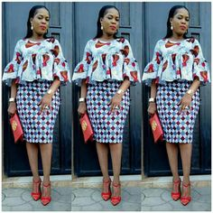 While you are working we discovered that the Ankara styles are getting much better, some you can rock to work no questions asked while others African Fashion Ankara, Latest African Fashion Dresses, African Print Dresses, African Print Fashion, Africa Fashion, African Dress, African Prints, African Fabric, African Attire