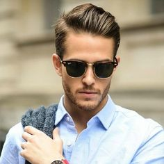 Side parting for men fine hair