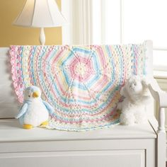 The baby afghans in this collection from Mary Maxim are perfect to crochet for your little bundle of joy or to give as a treasured gift. 7 Designs to make using sport or medium weight yarns: Sugar Spun Blanket, Baby Diamonds Blanket, Bears on My Blanket Baby Afghan Crochet, Baby Afghans, Crochet Blankets, Baby Blankets, Small Blankets, Crochet Books, Crochet Things, Doily Patterns, Crochet Patterns