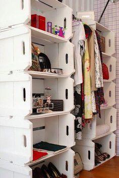 Closet de caixotes