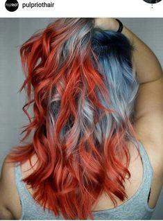 New hair color crazy funky ideas – Hair Colours Hair Dye Colors, Cool Hair Color, Unique Hair Color, Fire Hair Color, Fire Red Hair, Funky Hair Colors, Dye My Hair, New Hair, Cinnamon Hair