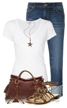 Untitled #2456 by sherri-leger on Polyvore featuring polyvore, fashion, style, James Perse, Hudson, Stuart Weitzman, Dooney & Bourke, Ray-Ban and clothing