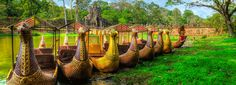 Siem Reap, Cambodia - Traditional Boat Service.