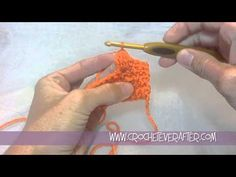 Video tutorial for stitches in Tee off life Afghan and owl ornament. crocheteverafter.com