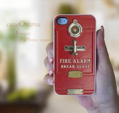 Fire Alarm Box iPhone 4, iPhone 4 case, iPhone 4S case, iPhone cover, iPhone hard case. $15.95, via Etsy.