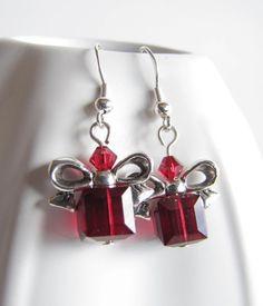 Christmas Gift Earrings Swarovski Crystals Holiday. $15.95, via Etsy.