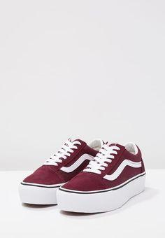 hot sale online 930fb 98d8c Plattform Sneakers, Vita Skor, Kpop, Skor, Bordeaux, Skor Med Kilklack,