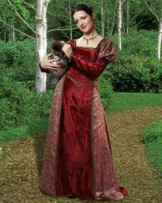 Hildegard Princess Dress, Renaissance Gowns & Dresses, Medieval Clothing, C1105