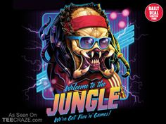 Welcome To The Jungle T-Shirt - http://teecraze.com/daily-deal-1/ - Designed by RockyDavies #t-shirt #art #fashion