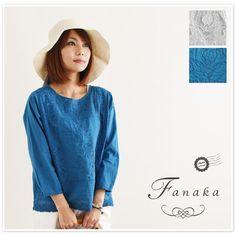 【Fanaka ファナカ】アンティーク風 パッチ 刺繍 ブラウス (71-2165-107)