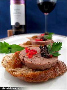 Chicken liver pate served with truffles & sweet chili sauce