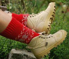 1cdda65d5fbeb L Esprit Nordique de vos pieds · Chaussettes Chaudes, Chaussettes Laine,  Cuir, Chaussure, Claquette Chaussette, Chausson Chaussette,