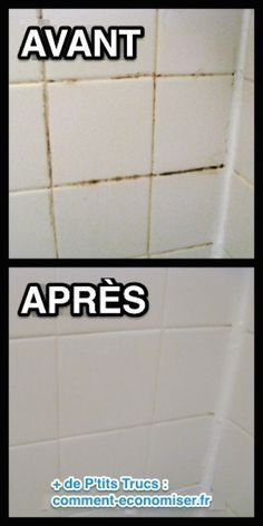 Want a simple trick for cleaning grout in your shower, bath, or kitchen? This is the absolute BEST homemade grout cleaner; just baking soda and bleach! Diy Home Cleaning, Household Cleaning Tips, Bathroom Cleaning, House Cleaning Tips, Spring Cleaning, Cleaning Hacks, Cleaning Shower Tiles, Household Cleaners, Hacks Diy