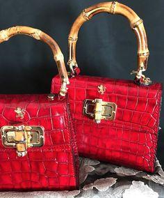 c45effbcb2 pratesi Products. Hot red bamboo handle designer handbags
