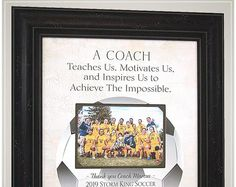 Gift for Soccer Coach, Soccer End of Season Coaches Gifts from Team