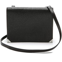 Alexander Wang Prisma Double Envelope Bag - Black found on Polyvore