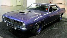 1970 Plymouth Hemi-Cuda - A purple muscle car? Hey, it works. #musclecars