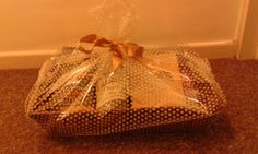 A hamper for my gran filled  with shortbread,  home baking and cordial