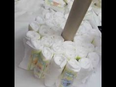 How To Make A Diaper Cake For A Baby Boy...