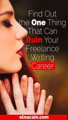 Find Out the One Thing That Can Ruin Your Freelance Writing Career – I'm going to let you in on a little secret — so come closer and listen carefully. Ready?I almost ruined my freelance writing career before it even took off. I was about to give it all up and start another adventure as a work-at-home mom when I suddenly had a wake-up call (but we'll get to that later). I'm glad I didn't because after only a short time branding myself as a freelance writer, clients are coming to me for help.