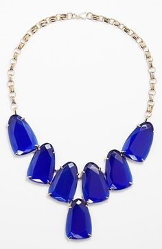 beautiful cobalt and blue necklace  http://rstyle.me/n/vsjhepdpe
