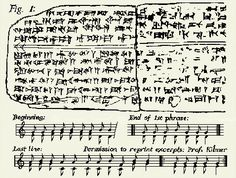 The oldest song in the world-  The song was discovered in the ancient Syrian city if Ugarit in the early Fifties, and then deciphered by Professor Anne Draffkorn Kilmer. The tablets containing the notation were about 3,400 years old, and contained cuneiform signs in the hurrian language that provided musical notation of a complete cult hymn. It's thought to be the oldest preserved song with notation in the world, and predates the next earliest example of harmony by 1,400 years.