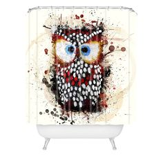 Msimioni The Owl Shower Curtain | DENY Designs Home Accessories
