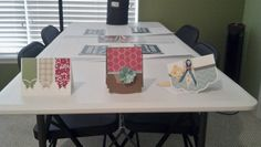 Second table with samples of cards from my class.