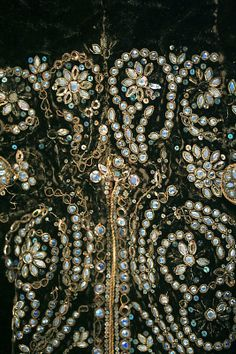 Detail, silk court suit, 1750–75, French (The Metropolitan Museum of Art)