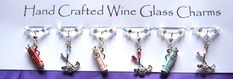 Wine Charms Wine Glass Charms Golf Charms by Makewithlovecrafts, Golf Gifts, Wine Gifts, Wine Glass Charms, Garden Gifts, Secret Santa, Teacher Gifts, Mother Day Gifts, Swarovski Crystals, Birthday Gifts