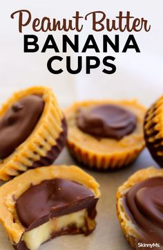 Our scrumptious Peanut Butter Banana Cups, rich, chocolatey, peanut buttery cups that melt in your mouth, but are made with 100% clean eating ingredients. #cleaneatingrecipes #eatingclean #cleaneatingsnacks #cleaneatingweightloss #cleaneatingfoods