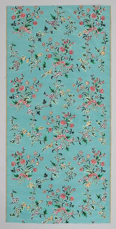 Length of Painted Silk  Date:     mid-18th century Culture:     Chinese, possibly Canton Medium:     Woven silk taffeta, painted with pigments, gilt and silver