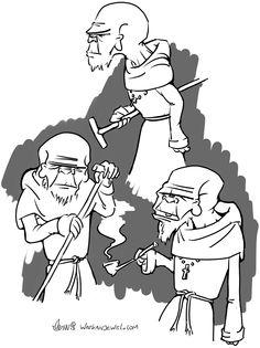 Old weird monk, cane. Watkanjewel.com Niels Vergouwen