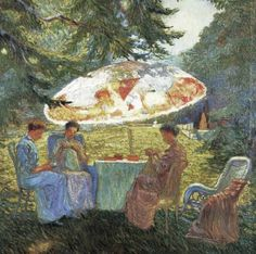Arthur Watson Sparks (American painter, 1870-1919) The Tea Party 1907