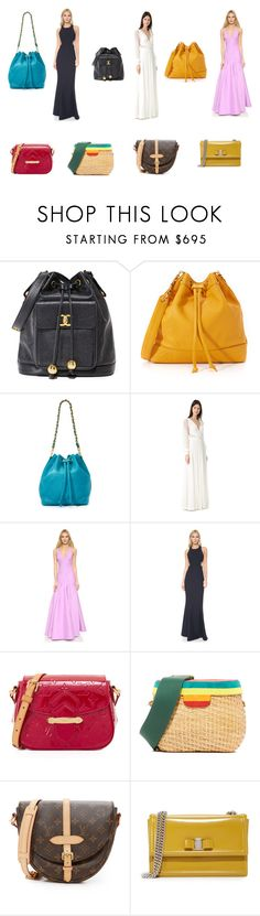 """Fashion never ends"" by emmamegan-5678 ❤ liked on Polyvore featuring J. Mendel, Halston Heritage, Elizabeth and James, Edie Parker, Salvatore Ferragamo and vintage"