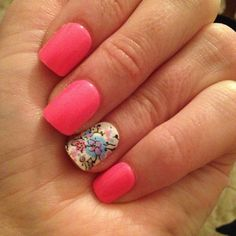Pretty pink and intricate nail art #manicure #summer