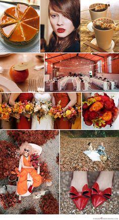 Wedding color palette: red & orange
