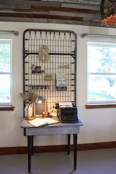 My Sweet Savannah: ~Texas part 1~{the vintage round top}love the pipe drapery rods