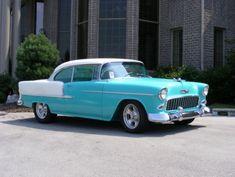 Chevrolet Bel Air, 1955 Chevrolet, 1955 Chevy Bel Air, Chevrolet Camaro, 50s Cars, Retro Cars, Vintage Cars, Vintage Auto, Antique Cars