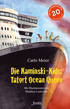 Das turbulente Geschehen spielt auf der Königin der Meere, dem Kreuzfahrtschiff «Ocean Queen». Dort verschwindet auf dem Luxusdeck die wertvolle Perlenkette einer reichen Dame. Kurz darauf tauchen in einer Arbeiterkabine millionenschwere Diamanten auf. Merkwürdige Dinge geschehen an Bord. Das Schiff wird zum Tatort – doch wer ist der Täter? Die Kaminski-Kids lösen den Fall! Das Buch gibts auf www.fontis-shop.ch Ocean, Movies, Kids, Movie Posters, God Loves You, Ride Along, Real Life, Books For Kids, Diving