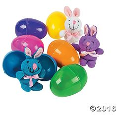 Bunny Filled Easter Eggs 4 Inch  - 12 Pack *** You can get additional details at the image link. (This is an affiliate link) #PartySupplies