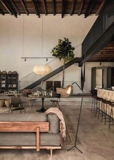 45 Modern Industrial Interior Design Living Room Décor Ideas - nevaeh news Industrial Interior Design, Industrial Living, Industrial Interiors, Interior Design Living Room, Living Room Designs, Living Spaces, Interior Decorating, Decorating Ideas, Modern Industrial Decor